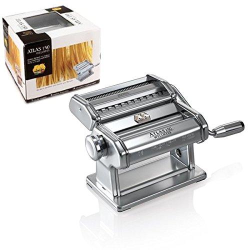 Atlas 150Made in Italy Nudelmaschine in Haus mit Kurbel für Lasagne, Fettuccine Tagliolini (Kurbel Atlas)