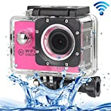 ALLSHOPSTOCK (#33) H16 1080P Portable WiFi Waterproof Sport Camera, 2.0 inch Screen, Generalplus 4248, 170 A+ Degrees Wide Angle Lens, Support TF Card(Magenta)
