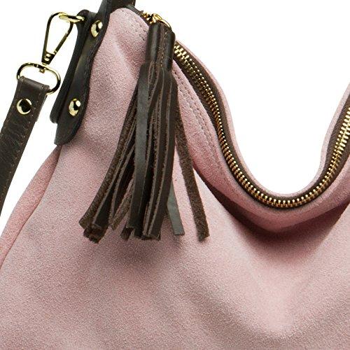 CASPAR Fashion, Borsa a spalla donna taglia unica Rosa