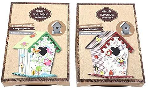 Make Your Own Birdhouse Childrens Card Paper Craft Kit ~ Birdhouse Kit