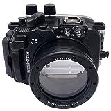 Mcoplus 40m/39,6m impermeabile (IPX8) Fotocamera Custodia subacquea impermeabile Custodia per Nikon J5obiettivo 10–30mm con accurate integrato sensore allarme rilevamento di perdite (wp-j5(10–30mm)