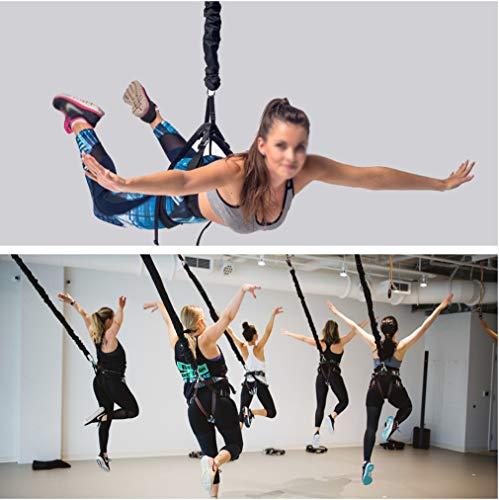 TESLANG Bungee Fitness Set, Bungee Cord Training Workout, Widerstandsband Schlingentrainer Klimmzug Bänder, Fitnessband, Trainingsband, Gymnastikband, für Krafttraining Yoga Sport