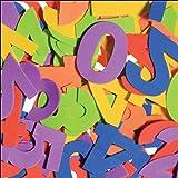 i-mondi Moosgummi-Zahlen, bunt sortiert, 60 Stück, Größe: 50mm, selbstklebend