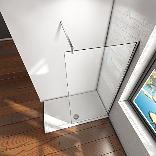 51JDQ5WjzqL - Mampara ducha Panel Pantalla Fija cristal 8mm templado para baño (70x200cm)