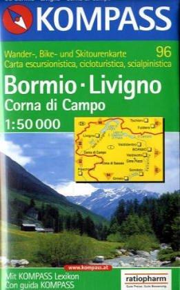 Carta escursionistica n. 96. Bormio, Livigno, Valtellina