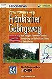 Hikeline Fernwanderweg Fränkischer Gebirgsweg ca.425 km: Vom Naturpark Frankenwald über das Fichtelgebirge und die Fränkische Schweiz in die Frankenalb, 1:35.000, wetterfest