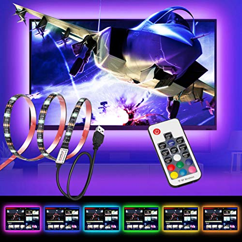 Hintergrundbeleuchtung TV, USB 78zoll für 40-60 Zoll HD Fernseher Bildschirm und PC-Monitor LED Streifen Beleuchtung Gearmatte