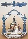 Kunsthandwerkstube Hubrig-Volkskunst Pyramiden Winterkinder * 35cm x 25cm