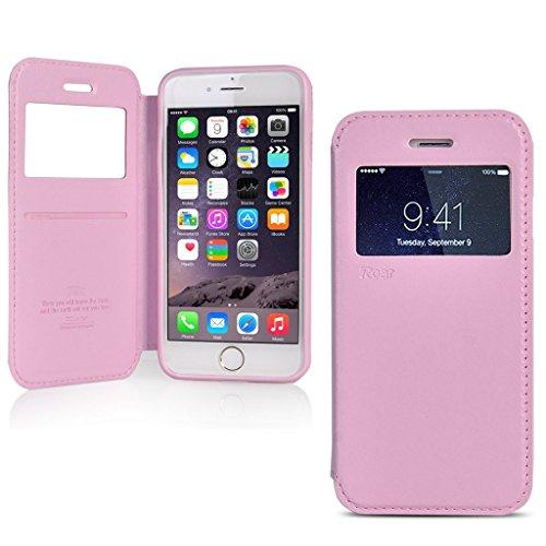 UKDANDANWEI iPhone 7 [Rr] Hülle Case, [ALL DAY] Colorful Jelly Case 360°Outdoor Touch Case Schutz Cover Hülle Handyhülle Silikon kratzfeste stoßdämpfende Case für iPhone 7 Rot Roar-Rosa