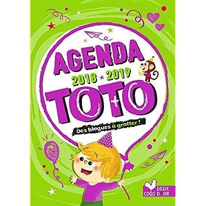 Agenda de Toto 2018-2019 - avec des stickers blagues à gratter