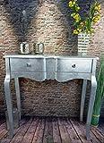 Livitat® Konsolentisch Anrichte Wandtisch Silber foliert barock Pomp pompös Landhaus LV2028