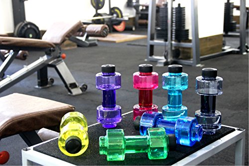 Nani's Stylish Plastic Dumbbell Sports Bottle, Fitness Gym Water Bottle |H2O Bottle / 750 ml, Purple