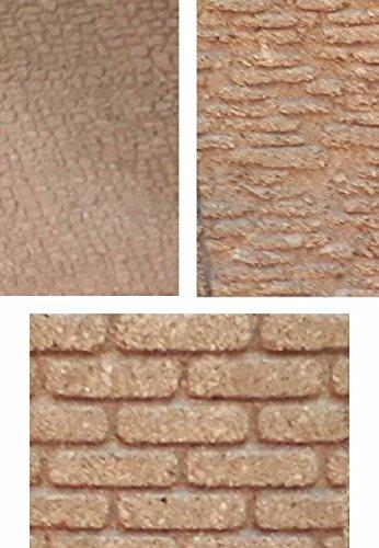 ricevi 3 Pannelli 3 Mattoni Diversi di Sughero 33x25 cm Spessore 10 mm Muro Foglio Pannello per PASTORI PRESEPE San Gregorio ARMENO Artigianali sheperds Crib