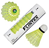 #6: VOXAMIN LS-375 Flintex Badminton Nylon Shuttlecocks (Pack of Six)