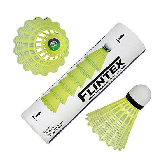 VOXAMIN LS-375 Flintex Badminton Nylon Shuttlecocks (Pack of Six)