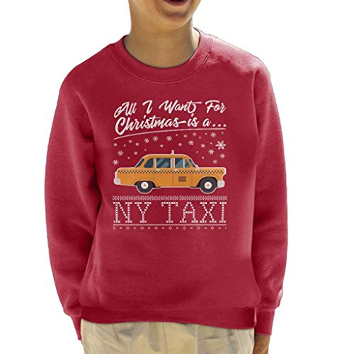 All I Want For Christmas Is A New York Taxi Kid's Sweatshirt
