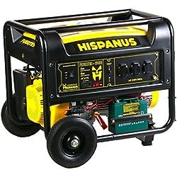 HISPANUS GENERADOR ELECTRICO 6000W, 230V GASOLINA GAMA FUERTES