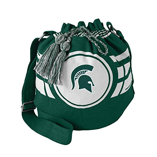 Littlearth NCAA Michigan State Spartans Damen Ripple Kordelzug Eimer Tasche, Grün, 30,5 x 35,6 x 21,6 cm