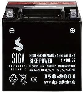 Motorrad Batterie Yix30l Bs Agm Gel 32ah 12v 420a Elektronik