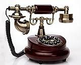 Telefon-altmodisches Telefon des Drehfesttelefons europäisches festes ländliches Retro- Telefon des Heimats Festnetztelefon (größe : A)