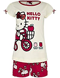 Filles Hello Kitty Pyjama Coton Robe & Ensemble Short Enfants Pjs Pyjama