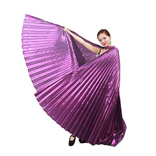 OVERDOSE 142CM Frauen Egypt Belly Wings Dancing Costume Belly Dance accessories No Sticks Ägypten Bauch Flügel Tanz Kostüm Bauchtanz Zubehör Keine Sticks (142CM, Lila)
