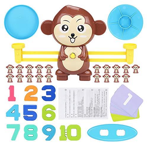 YuanNa Rollendes Affen-Balance-Spielzeug Digitales Balance-Spiel-Puzzle Affen-Balance-Spiel Kindererleuchtung Kindergarten Desktop-Spielzeug für Kinder Kinder