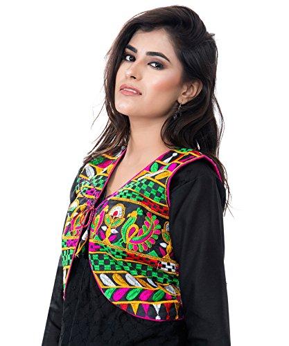 Banjara India Kutchi Short Choli Jacket [Duck] (Black)