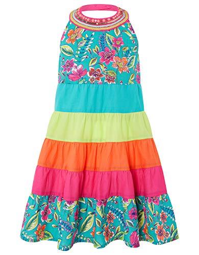 Monsoon Kids Mädchen Hallie Colorblock Kleid Tageskleidung Strandkleider - 8 Jahre