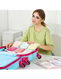 EasyBuy India M, Bluee : 3 Pcs/lot Transpat PVC Underwear To Receive A Bag Out Of The Bag To Go Out To Travel...