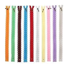 10st 35cm kanten rits nylon rits gemengde kleur stijl knop zijden vorm voor het naaien van kledingaccessoires