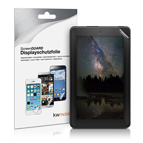 kwmobile Amazon Fire 7 (2016-6. Generation) Folie - Full Screen Tablet Schutzfolie für Amazon Fire 7 (2016-6. Generation) Klar