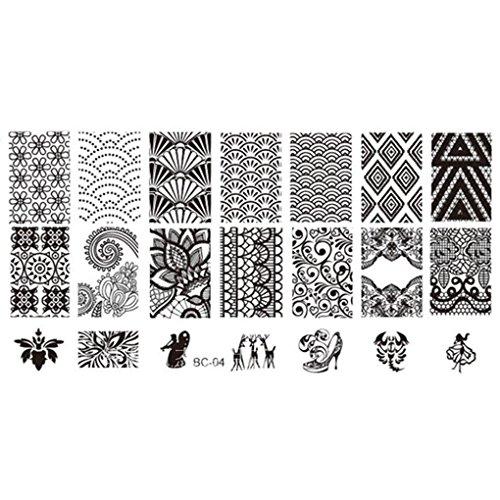 Kineca Lace Stamper Nails-Kunst-Stempel-Nagel-Schablone Blumen Image Printer Platte (Image Printer)