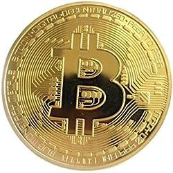 Frontoppy Bitcoin Moneda, Miner Coin Moneda Plateada Moneda Conmemorativa Coin Round Moneda Conmemorativa Virtual Collectible Gift (Circular Golden)