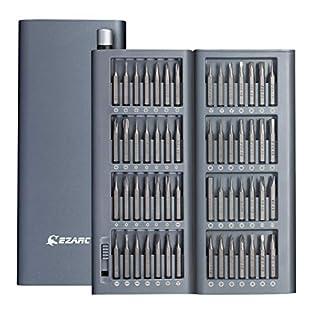 EZARC Präzision Schraubendreher Set, 57 in 1 Magnetische Präzision Reparatie-Tool mit Innovativen Metallgehäuse, Reparatur für iPhone, Macbook, Smartphone, iPad, PC, Laptop, Brillen, Uhren