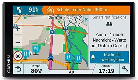 Garmin DriveSmart 61 LMT-D CE Navigationsgerät (17,65 cm (6,95 Zoll) Touchdisplay, Zentraleuropa (Traffic via DAB+ oder Smartphone Link) lebenslang Kartenupdates & Verkehrsinfos, Smart (Navigationsgerät Kaufen)