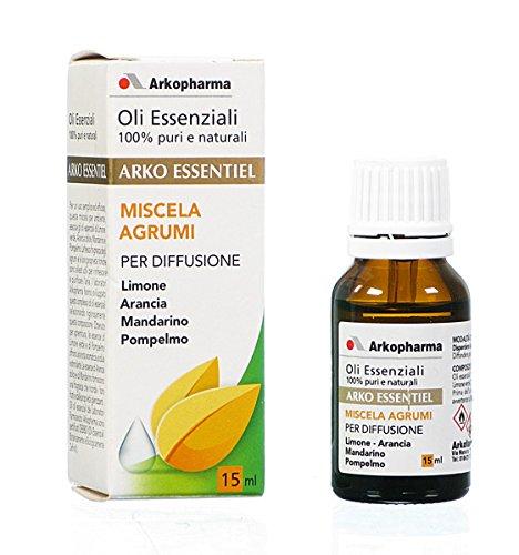 ARKO ESSENTIEL Oli Essenziali Miscela Agrumi Per Diffusione 15 ml