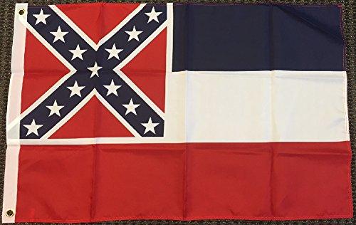 3x5 Mississippi Flag Polyester State Banner MS 3' x 5' New - Poly Flag Banner
