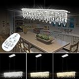 HG® Esstisch Hängelampe Deckenleuchte Modern LED Pendel Hänge Lampe 24W Deckenspot Pendelleuchte Dimmbar Innenleuchte Mit Fernbedienung Höhenverstellbar Lüster [Energieklasse A++]