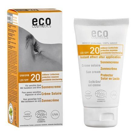 Eco Cosmetics Crème solaire indice 20 protection moyenne 75ml