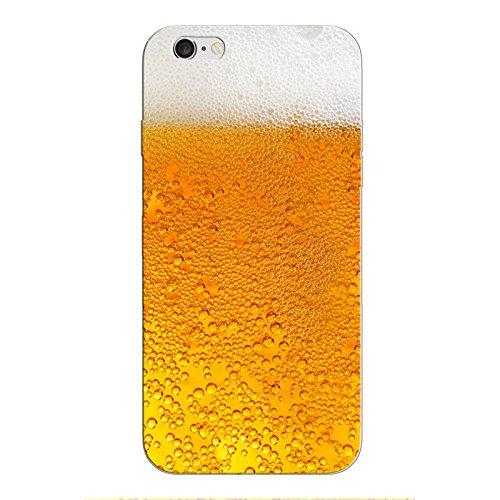 huellenwelt iPhone 8 Handyhülle Schutzhülle Hülle Silikon Cover Case Ultra Dünn Slim Backcover TPU transparent (Bier)