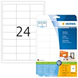 Herma 5053 Universal Etiketten (66 x 33,8 mm) weiß, 600 Klebeetiketten, 25 Blatt Premium DIN A4 Papier matt, bedruckbar, selbstklebend