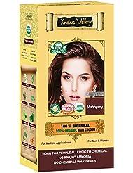 Couleur cheveux de la vallée de l'Indus Herbal est 100% naturelle Inde certifié biologique, USDA Bio sans produits chimiques et certificat Eco Kit de coloration pour hommes et femmes couleur cheveux gris, blanc, coloration cheveux ou simplement pour une alternative Plus Saine pour la racine sans PPD, ammoniac, sans peroxyde, sans métaux lourds et n'a aucun produits chimiques couleurs disponibles dans 12couleurs... important, Veuillez Hover sur cheveux Guide image quatre sur votre gauche avant vous faites un Achat