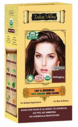 100% Organic 100% Botanical Natural Herbal Hair Dye Color Mahagoni für Männer und Frauen 100% frei von Chemikalien, kein PPD, kein Ammoniak, kein Peroxid und keine Schwermetalle (Mahogany)