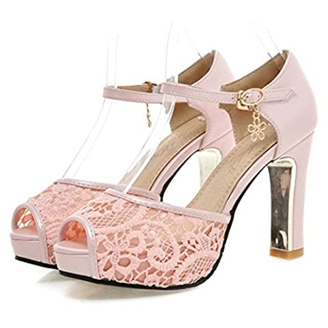 Women's Fashion High Heels Platform Party Outdoor Sandals Pink / US 5.5