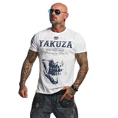 Yakuza Original Herren Daily Skull T-Shirt (Slim Fit Gewebt Shirt)