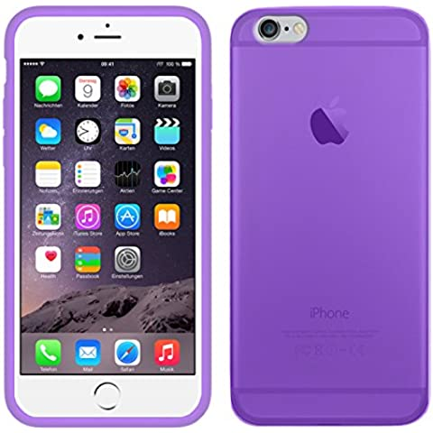 TBOC® Funda de Gel TPU Morada para iPhone 6 Plus (5.5 Pulgadas) de Silicona Ultrafina y Flexible