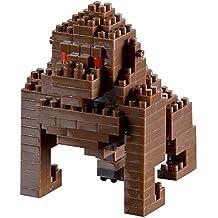 brixies 410089–Gorilla, 3d de puzzle, Animal Edition, 126piezas, nivel 2de dificultad Medio, multicolor