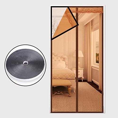 Estate schermo magnetico porta resistente di zanzara, heavy duty mesh screening morbido cucina camera schermo porta tenda a maglia semplice full frame a velcro c 130x200cm(51x79pollici)