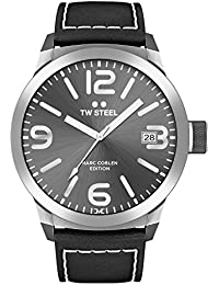 TW Steel Marc Coblen Edition mit Lederband 50 MM Grey Sunray/Black TWMC46